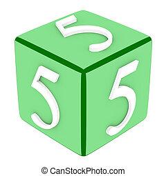 3d Font Cube Number 5
