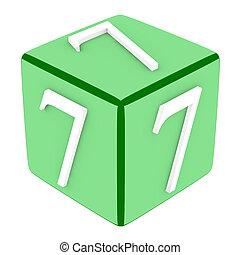3d Font Cube Number 7