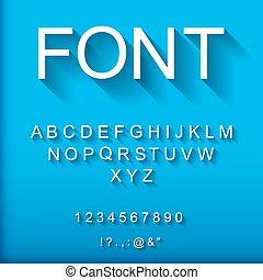 3d font.  Vector Illustration.