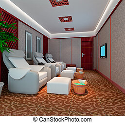 3D foot massage room