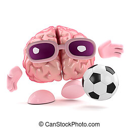 3d Football brain