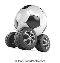 3d Football on wheels