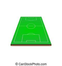 3d football soccer field