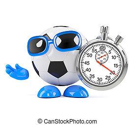 3d Football stopwatch