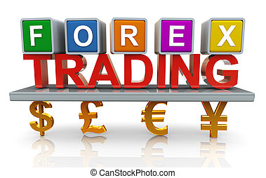 3d forex trading - 3d render of forex trading concept