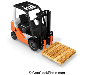 3d forklift with pallet