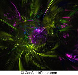 3d fractal abstract element.