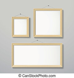 3D frame design vector for image or text
