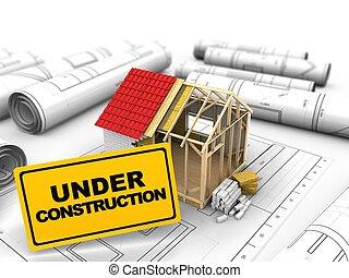 3d frame house construction