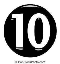 3d framed number 10 isolated in white