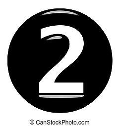3D Framed Number 2 - 3d framed number 2 isolated in white