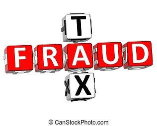 3D Fraud Tax Crossword