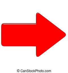 3d, freccia rossa