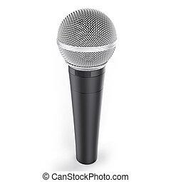 3d, freigestellt, mikrophon