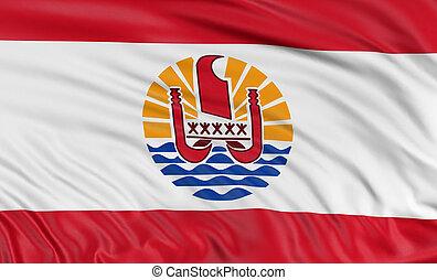 3D French Polynesia flag