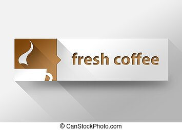 3d Fresh coffee concept flat design, illustration