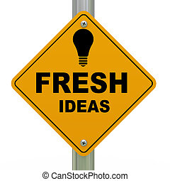 3d fresh ideas road sign