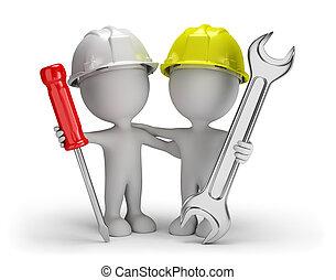 3d friends repairmen