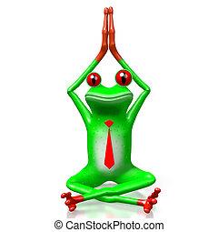 3D frog - sitting