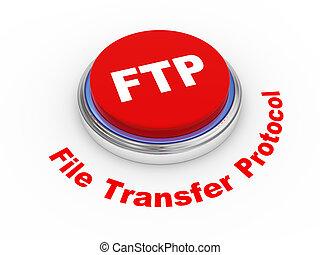 3d FTP button