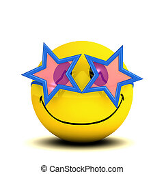 3d Funky smiley