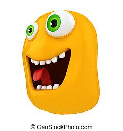3d funny cartoon face