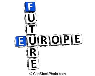 3D Future Europe Crossword