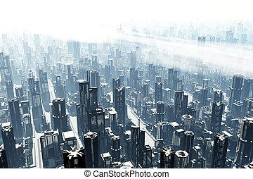 3D Future Metropolis 04 heavy smog - 3D Future Metropolis...