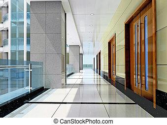 3d futuristic corridor