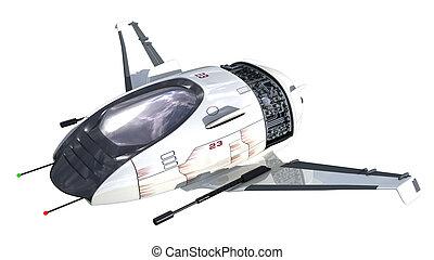 3D futuristic drone
