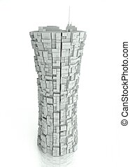 3d futuristic modern building