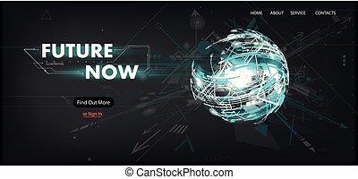 3D Futuristic Technology Website Template