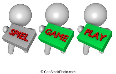 3d game play spiel figures