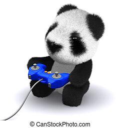 3d Gamer panda