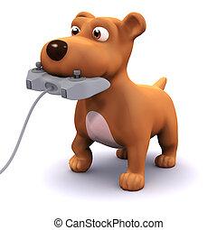 3d Gamer puppy