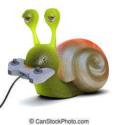 3d Gamer snail