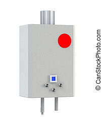 3d Gas boiler isolated on a white background