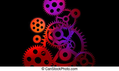 3d Gears engaging with each other.Good concept for Business...
