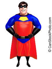 3d, geleistet, abbildung, von, superhero