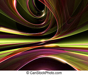 3D generated abstract background