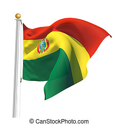 Bolivia - 3D Generated flag of Bolivia