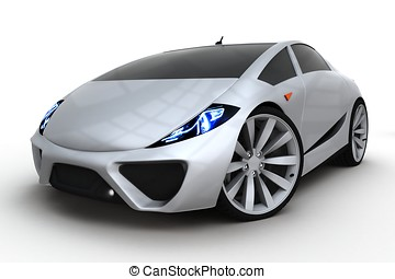 3d generic sport car on white background
