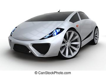3d, generisch, sport, auto