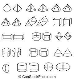 3d geometric for kid set