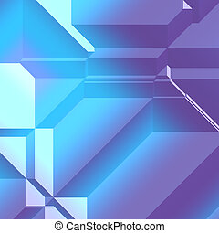 3d Geometric pattern - Smooth angular 3d geometric abstract...