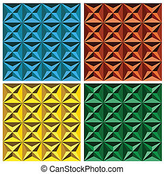 3d Geometric Seamless Pattern