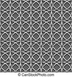 3d geometric seamless pattern with grey circles