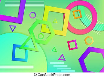 3d geometric shape background vector