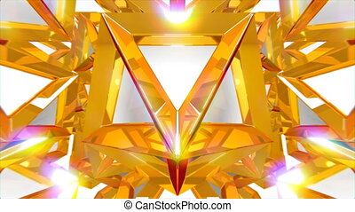 3D Geometric Shapes - VJ fantasy kaleidoscopic seamlessly...