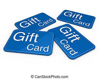 3d, geschenkschein, blaues
